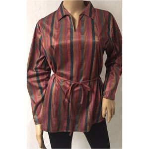 Brown Stripe Top Size Small